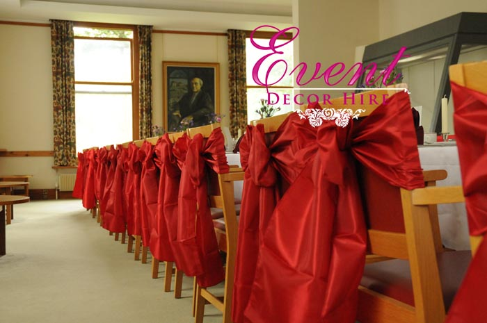 red taffeta sashes