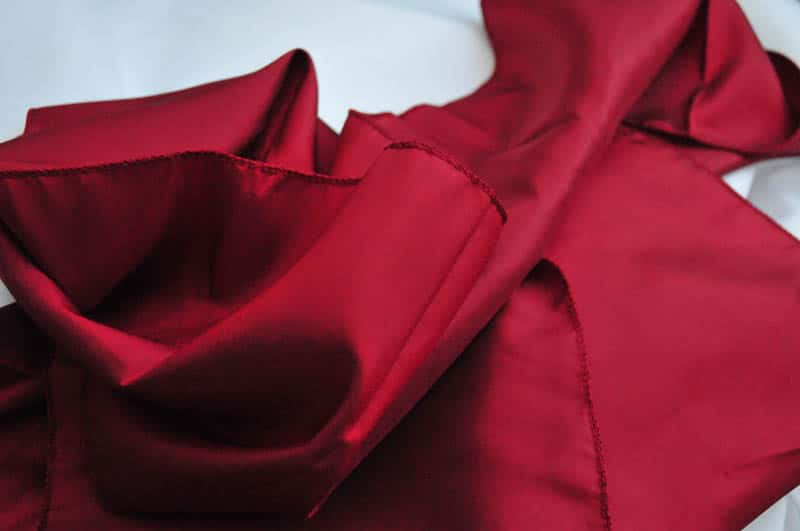 burgundy taffeta sash