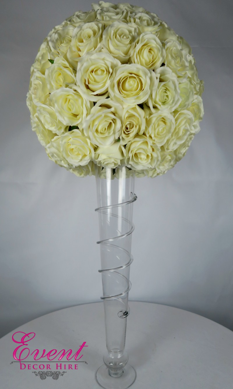 conical vase with flowers
