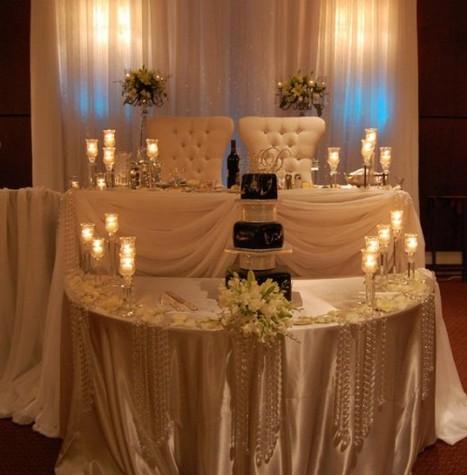 candle sweetheart table