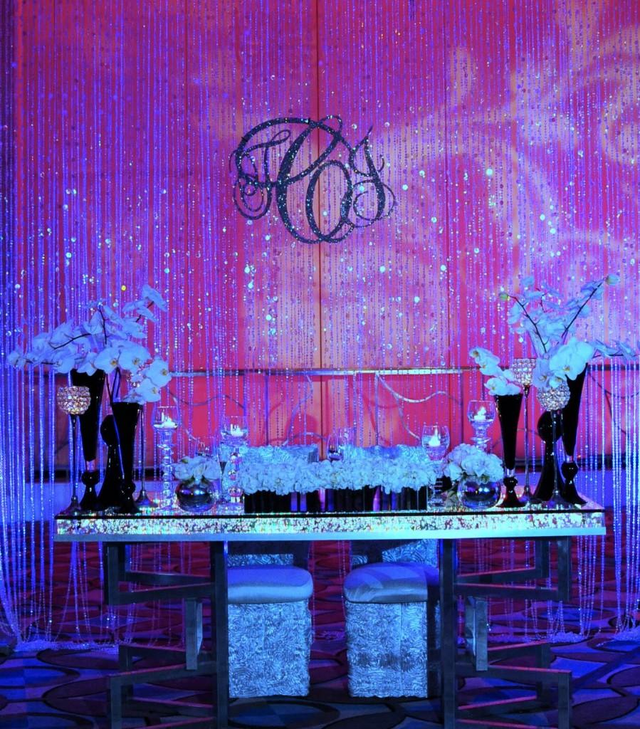 crystal sweetheart table