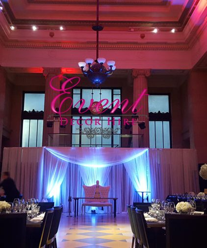 dramatic drape backdrop