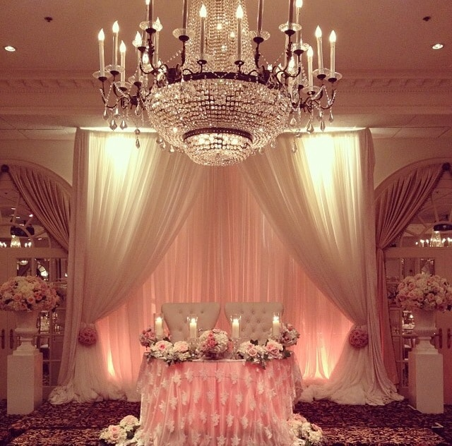 sweetheart backdrop