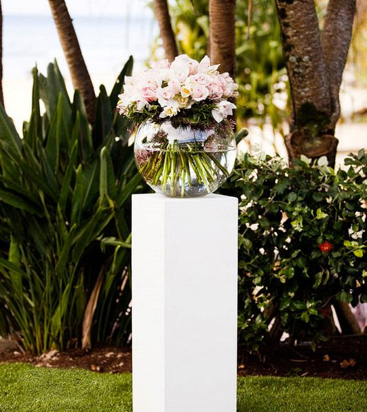 white pedestal hire