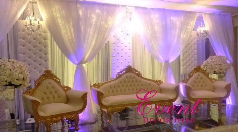 Gold sofa hire