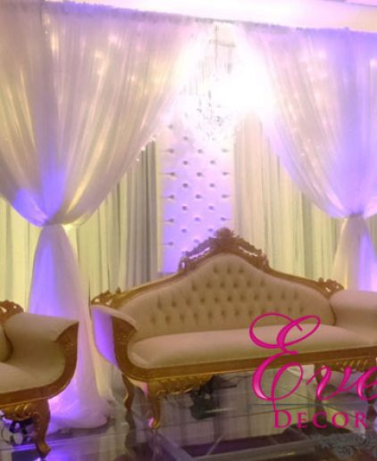 Gold sofa hire