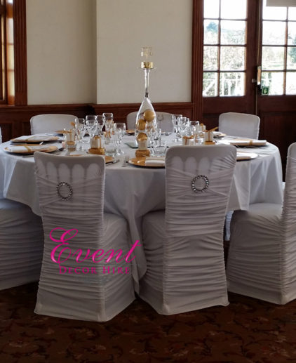 pleated chair covers