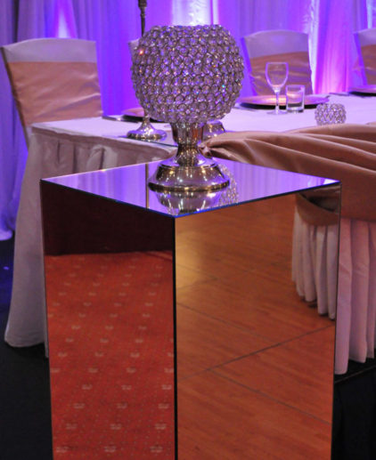 mirror pedestal hire