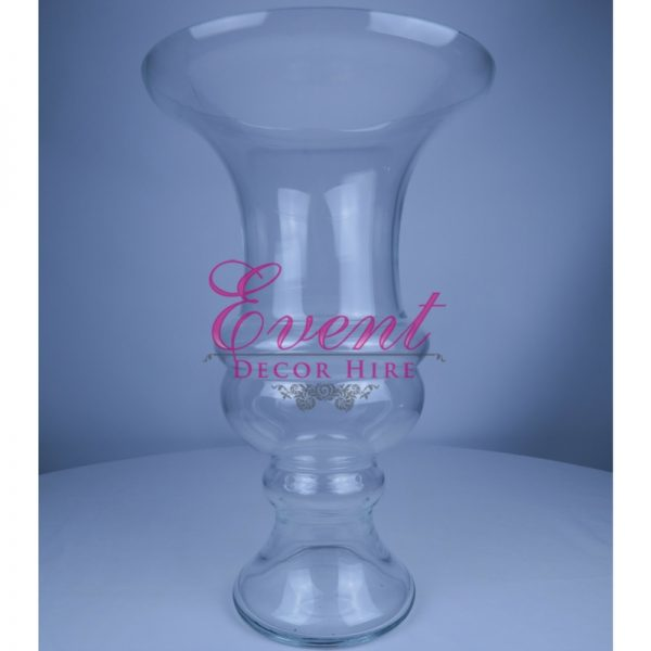 clear glass centrepiece flower arrangement glass urn
