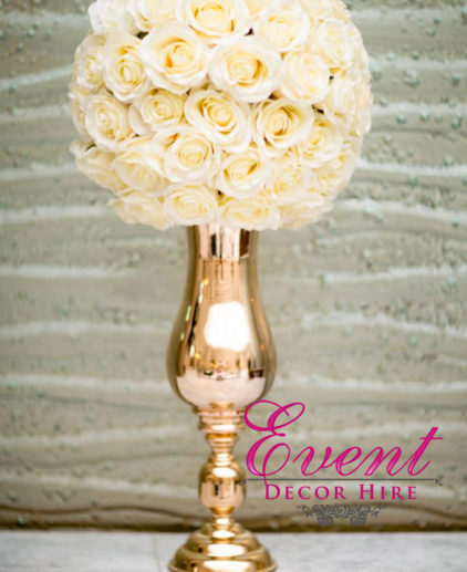 curved trumpet vase flowers