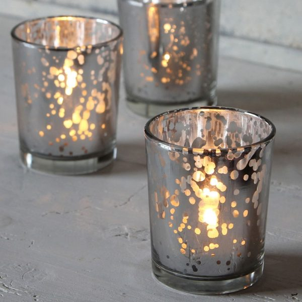 silver tea light