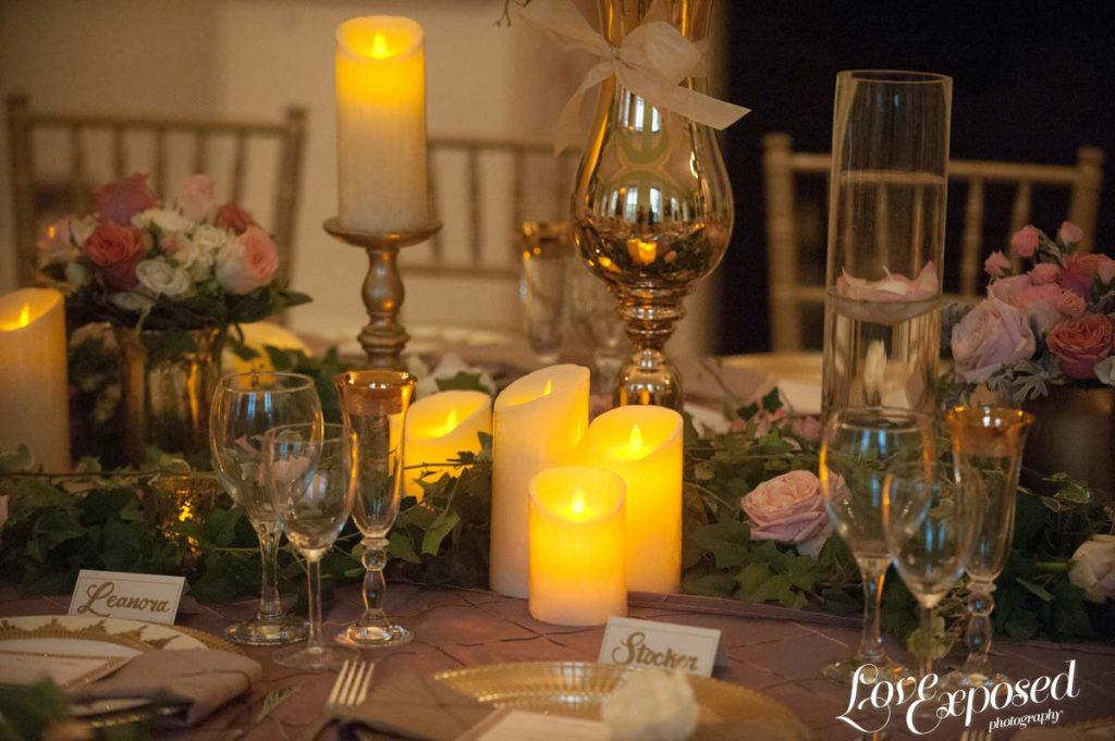 Gold Curved Trumpet Vase