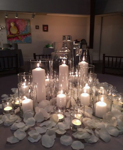 candle cylinder centrepiece