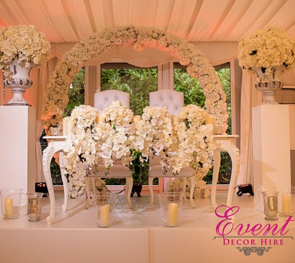 wedding backdrop arch hire
