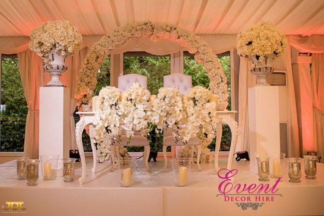 wedding backdrop arch hire