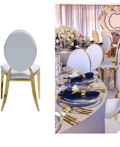gold rim chairs