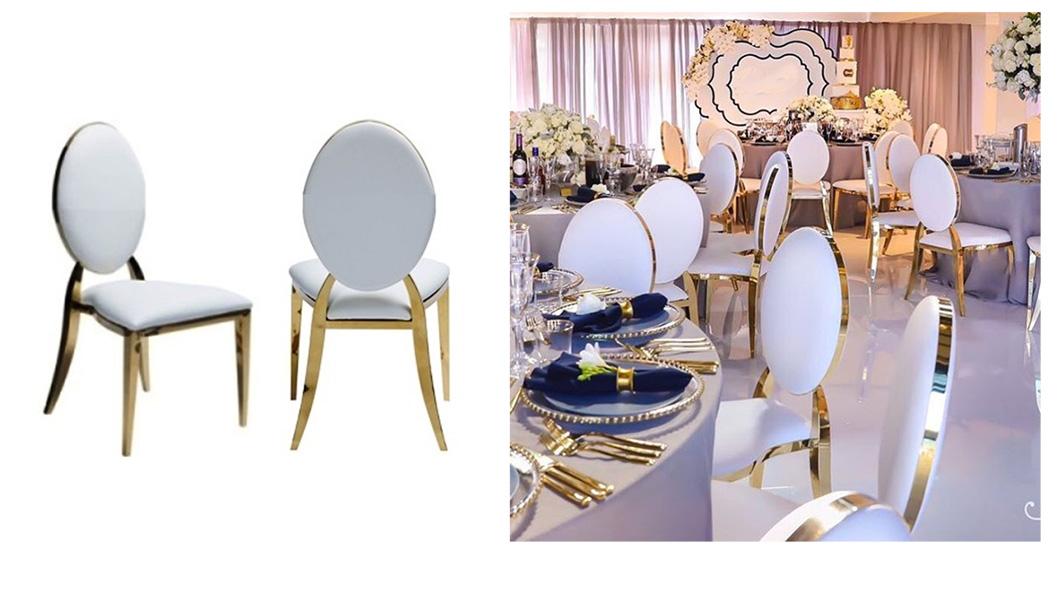 gold rim chairs