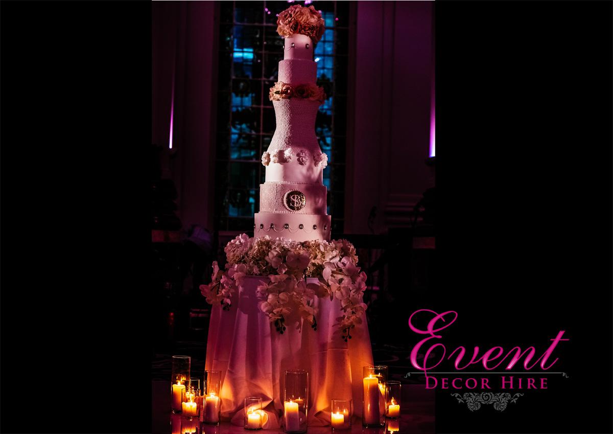 flower cake table