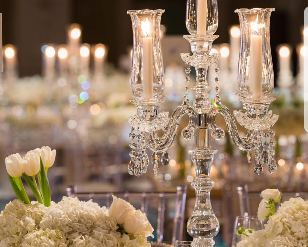crystal candelabra