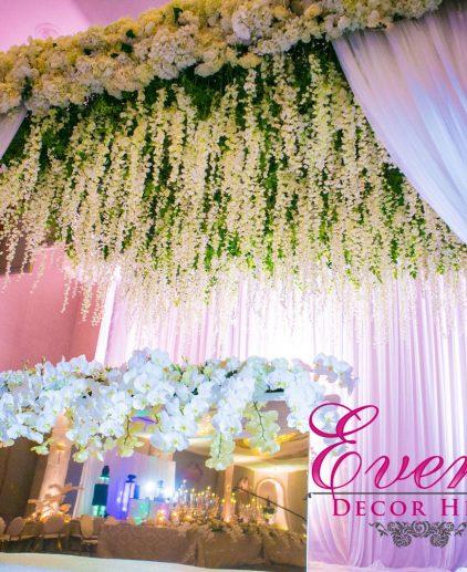 wisteria backdrop design stage mendap