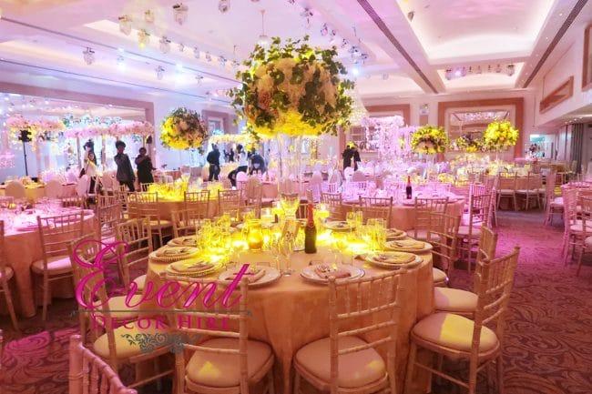 silk flowers wedding centrepeice