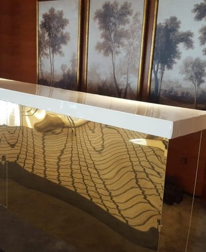 gold mirror bar