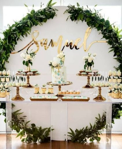 round backdrop wedding