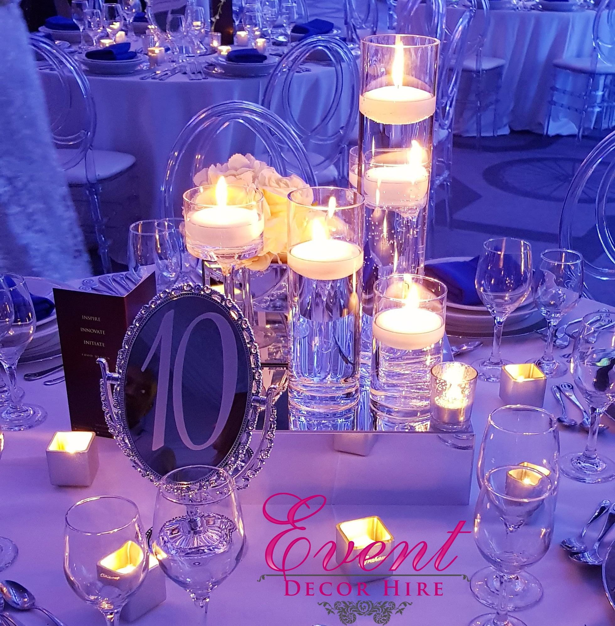 candle centrepieces
