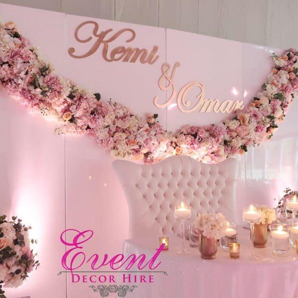 wedding stage backdrop