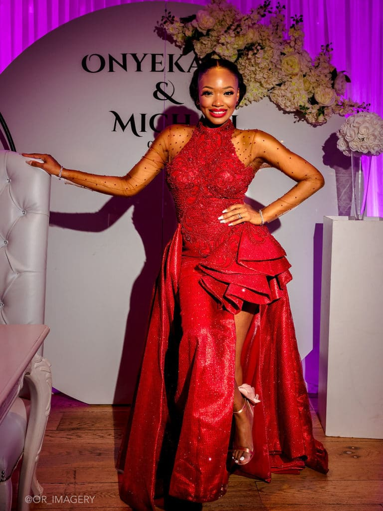 nigerian bride red clothing