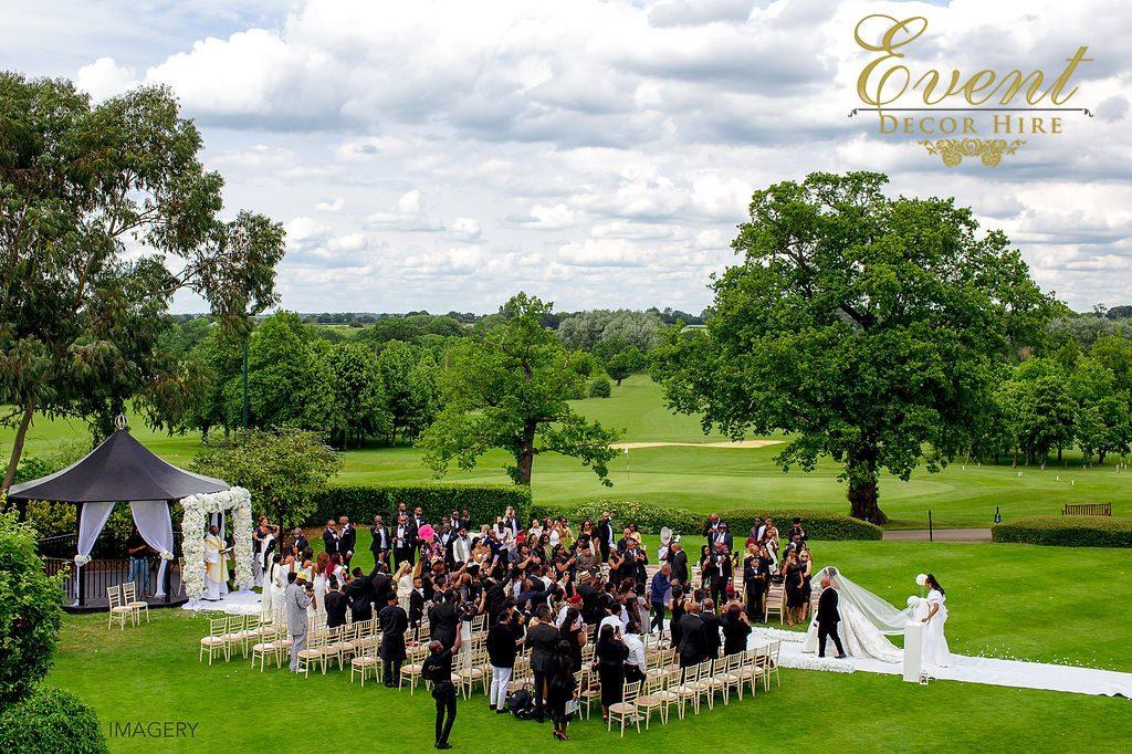 wedding ceremony stock brook manor essex