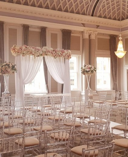 ceremony drape wedding