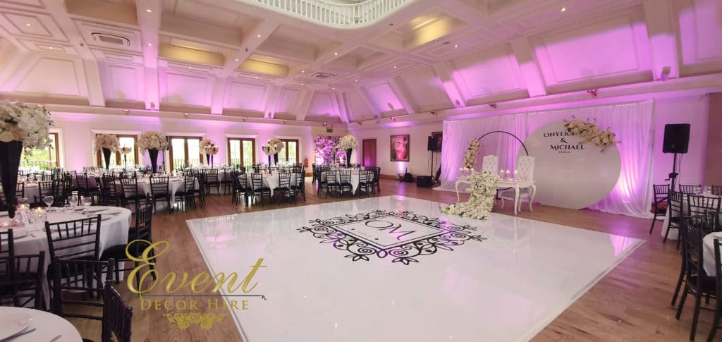 white dancefloor seamless stockbrook manor