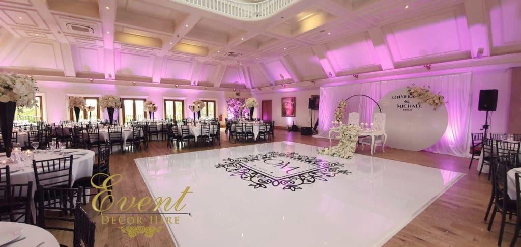white dancefloor seamless stockbrook manor