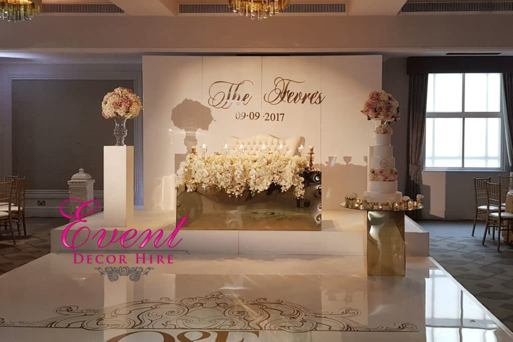 gloss wall wedding backdrop