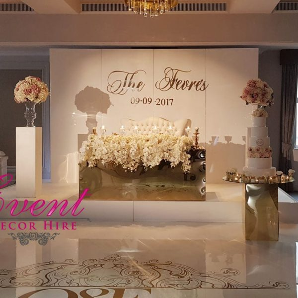 gloss wall wedding backdrop