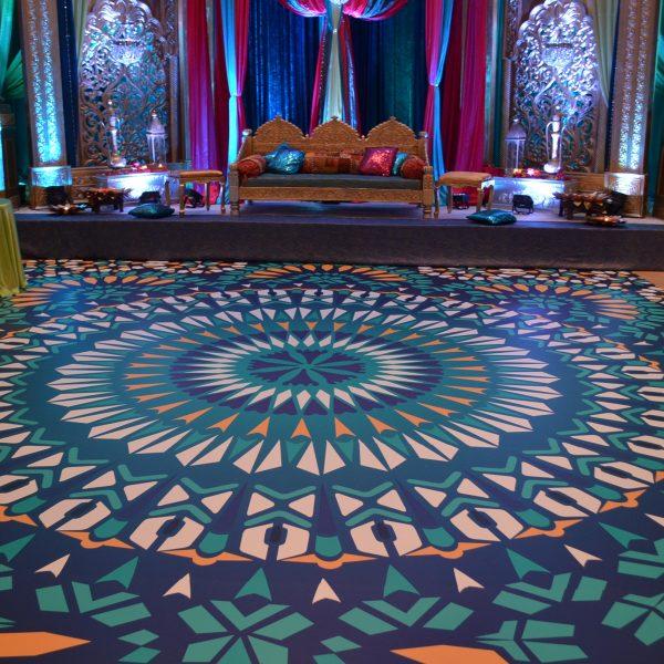 printed dance floor