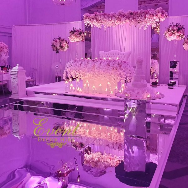 silver mirror stage hire