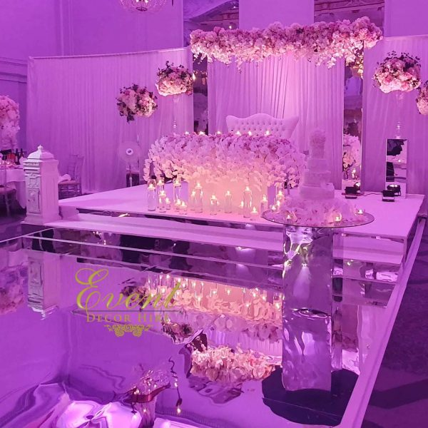 silver mirror stage hire