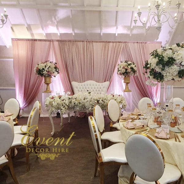 blush pink wedding backdrop