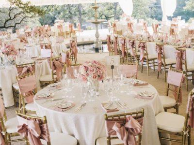 blush pink reception