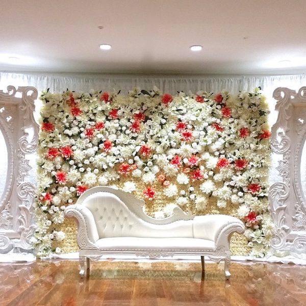 flower wall stage design