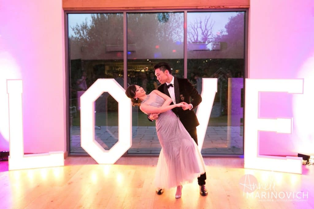 love sign wedding event decor hire