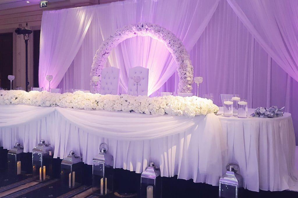 wedding backdrop drape arch