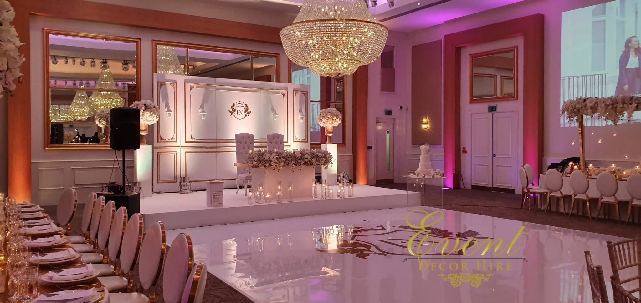 luxury white dancefloor