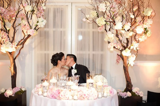 luxury wedding sweetheart table