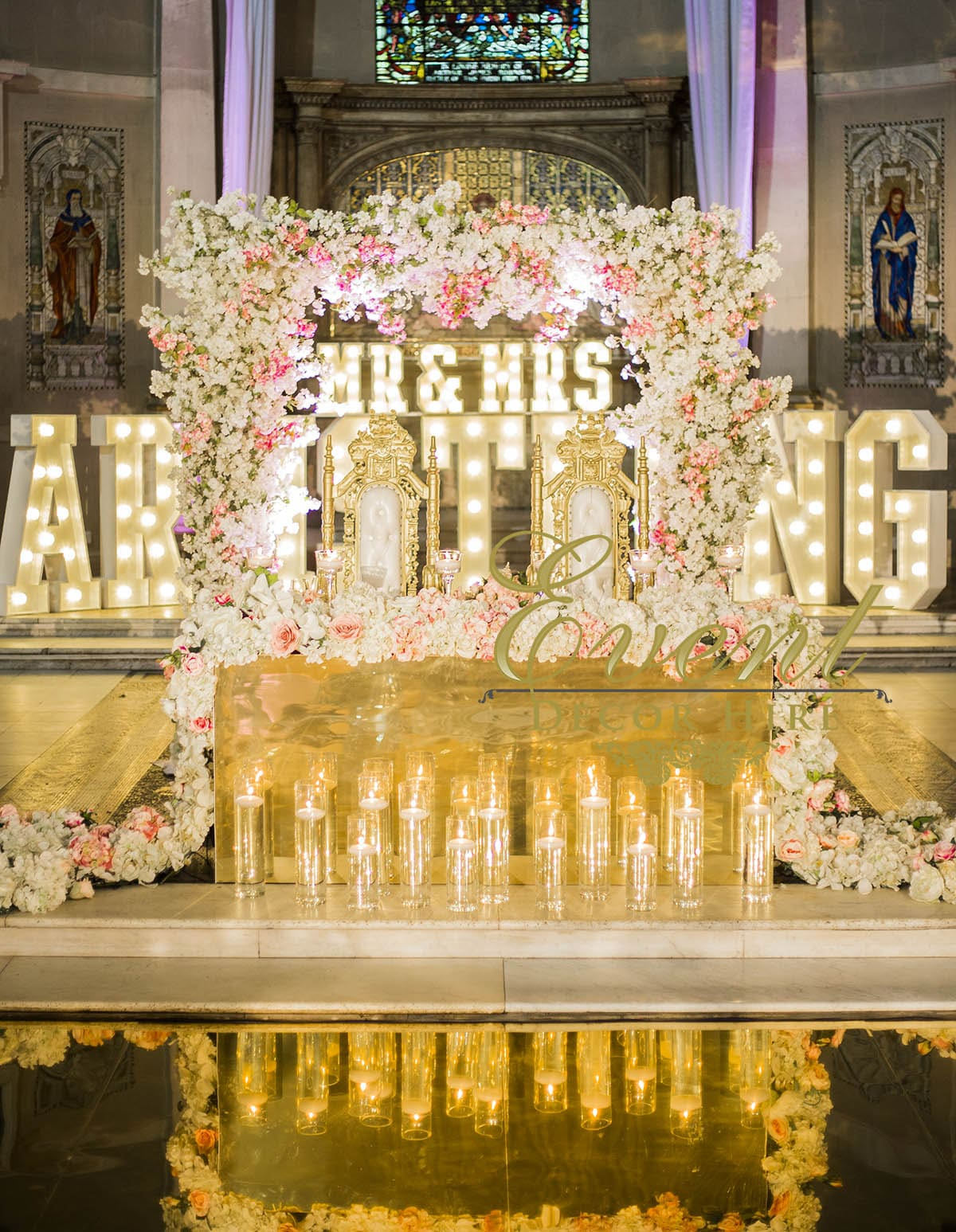 blossom arch wedding design backdrop