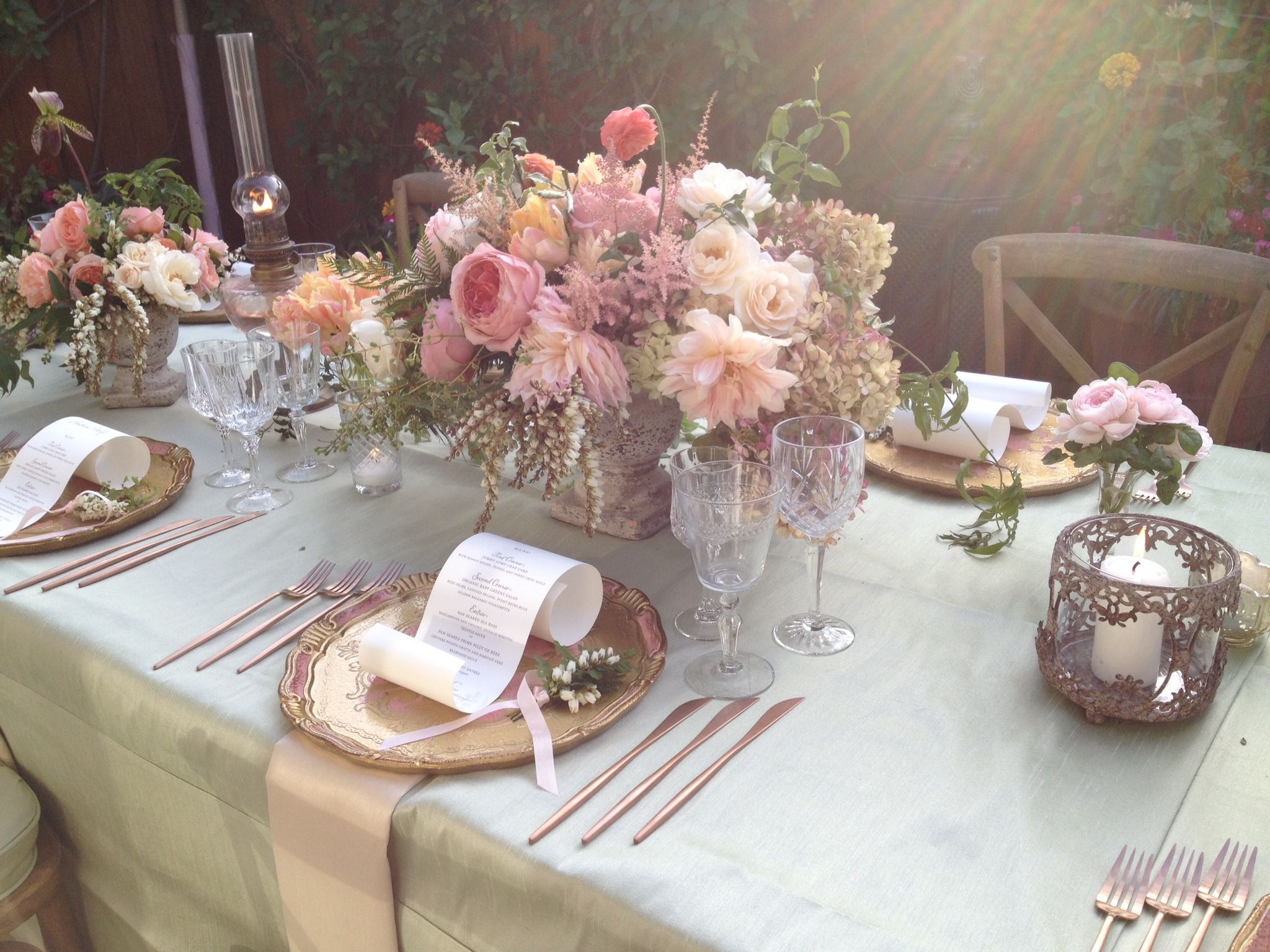 garden wedding design