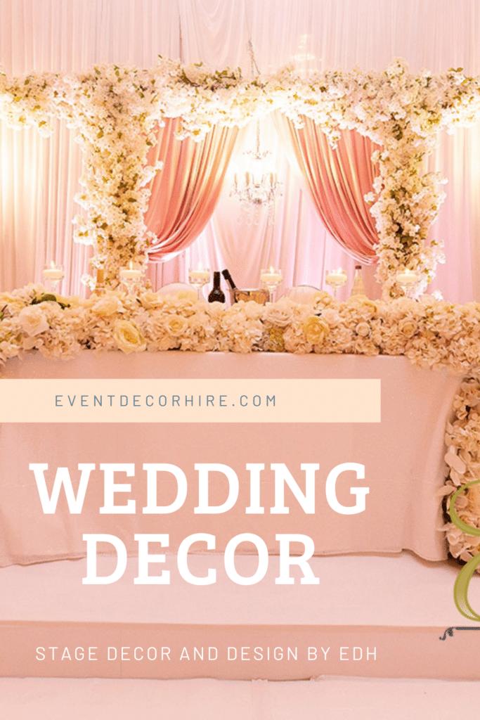 wedding design stage backdrop