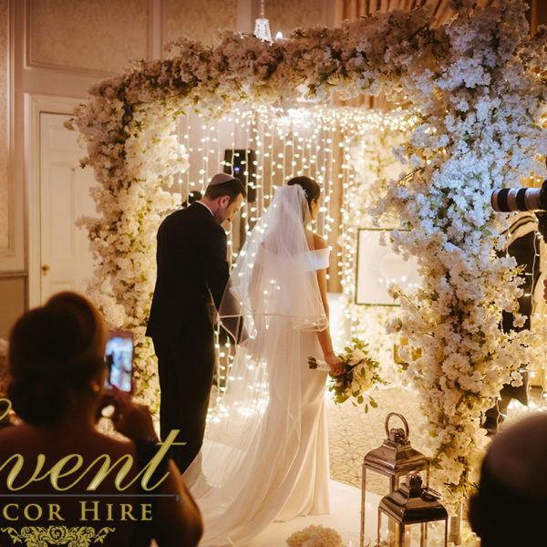 fairy light chuppah